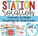 Station Rotation {Automatic and Editable PowerPoint}