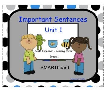 SMARTboard Reading Street ~ 1st Grade ~ Important Sentence