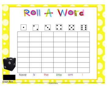 SMARTboard Roll a Word Graph for Word Work
