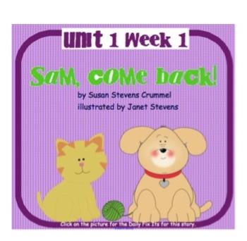 "SMARTboard ""Sam, Come Back!"" Reading Street First Grade Unit 1 Week 1"