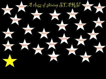 SMARTboard Attendance- Shining Stars