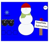 SMARTboard Snowman Subtraction