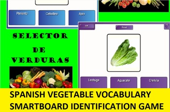 SMARTboard Spanish Vegetable Selector; Vocabulary, Language