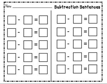 SMARTboard Subtraction Sentence Practice