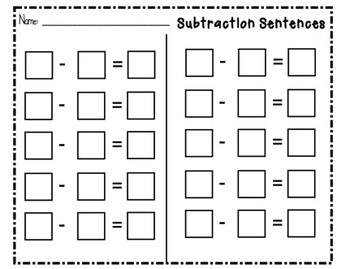 SMARTboard Subtraction Sentences