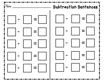SMARTboard Subtraction Sentences