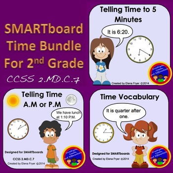 SMARTboard Time Bundle for 2nd Grade - CCSS 2.MD.C.7