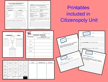 SMARTboard Unit Responsibilities, Rights, Privileges ~ Printables & Assessment