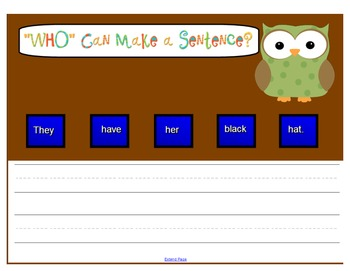 """SMARTboard """"Who"""" Can Generate a Sentence?"""