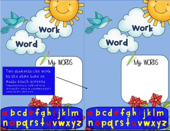 SMARTboard Word Builders Letter Word Work Interactive Literacy Center