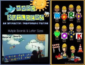 SMARTboard Word Builders Letter Word Work Interactive Lite