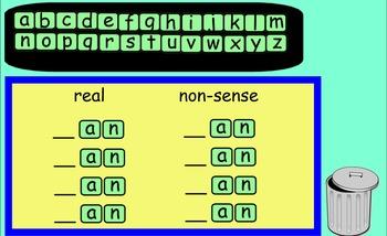 SMARTboard making words letter tiles