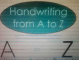 SMARTbook Handwriting A-Z unit
