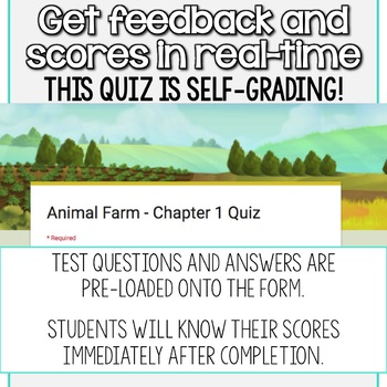 SMARTePlans Animal Farm Chapter 3 Quiz: Self-Grading Google Form