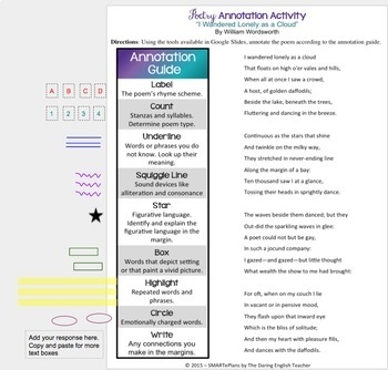 SMARTePlans Annotating Poetry Activity