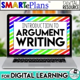 SMARTePlans Digital Argument Writing Unit for Google Drive