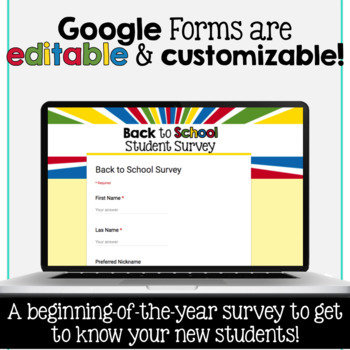 SMARTePlans Back to School Student Survey for secondary students