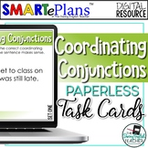 Digital Coordinating Conjunctions Task Cards - Distance Learning