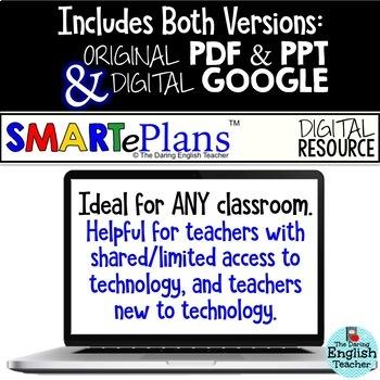 SMARTePlans Descriptive Writing Activities Unit (Digital Google & Traditional)