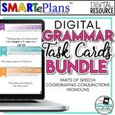 Digital Grammar Task Cards Bundle -Parts of Speech- Distan