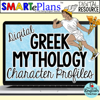 SMARTePlans Digital Greek Mythology Character Analysis Graphic Organizers