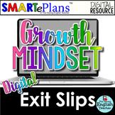 SMARTePlans Digital Growth Mindset Exit Slips for Google Drive