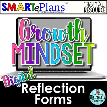 SMARTePlans Digital Growth Mindset Reflection Forms for Secondary Students