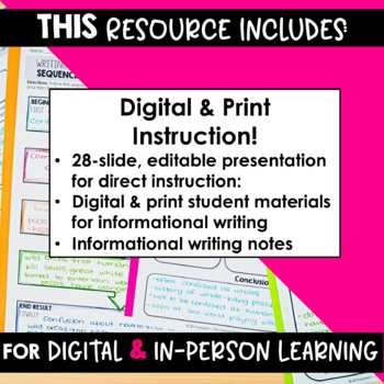 SMARTePlans Digital Informative Writing Unit (Digital Google & Traditional)
