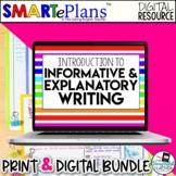 SMARTePlans Digital Informative Writing Unit (Google & Traditional Bundle)