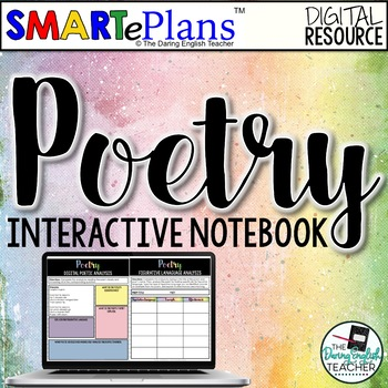 Digital Poetry Interactive Notebook (SMARTePlans) - Distance Learning