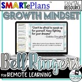 Growth Mindset Digital Bell Ringers - Distance Learning