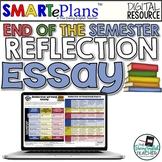 SMARTePlans Digital End of Semester Reflective Writing for Google Drive
