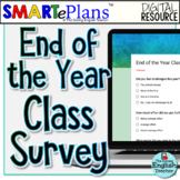 SMARTePlans End of the Year Class Survey for secondary students