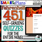 Fahrenheit 451 Digital Self-Grading Quizzes - Distance Learning