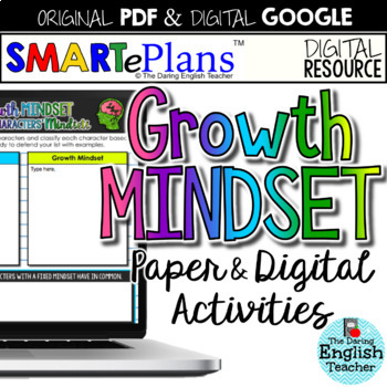 SMARTePlans Growth Mindset Activities & Resources (Digital Google & Traditional)