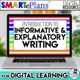 SMARTePlans Digital Informative Writing Unit for Google Drive
