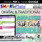 Literature, Rhetoric, and Poetry Digital Task Cards (Googl
