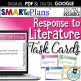 Literature Analysis Task Cards (Digital & Print) - Distanc