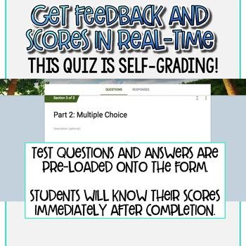 SMARTePlans Lord of the Flies Chapter 2 Quiz: Self-Grading Google Form