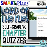 SMARTePlans Lord of the Flies Chapter Quizzes: Self-Grading Google Forms