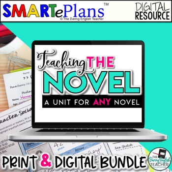 SMARTePlans Novel Study for any Text (Digital Google & Traditional)