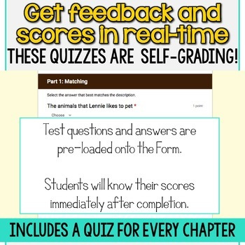 SMARTePlans Of Mice and Men Chapter 4 Quiz: Self-Grading Google Form