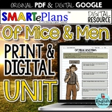 SMARTePlans Of Mice and Men Digital and Traditional Paper Unit Bundle