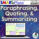 Paraphrasing, Quoting, Summarizing Digital Unit - Distance