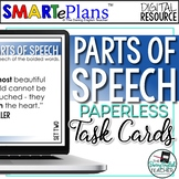 Digital Parts of Speech Task Cards (80 Task Cards) - Dista