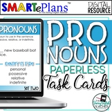 Digital Pronouns Task Cards for Secondary ELA (80 Cards) -