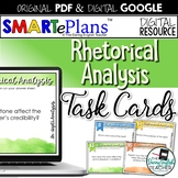 SMARTePlans Rhetorical Analysis Task Cards (Digital Google