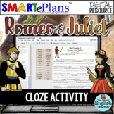 SMARTePlans Digital Romeo and Juliet CLOZE Passages