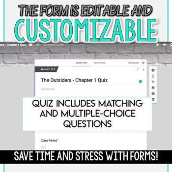 SMARTePlans Self-Grading The Outsiders Chapter 3 Quiz