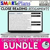 Short Stories Digital Close Reading Growing Bundle - Remot